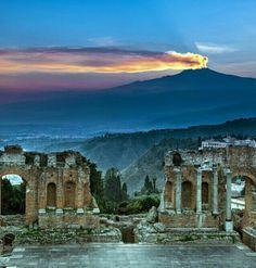 Etna from Taormina, Sicily, province for Messina https://plus.google.com/+JenniferManteca/posts #etna