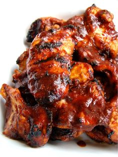Sweet chili BBQ chicken!  Grillin' season is almost here!  Well...in the south anyways!