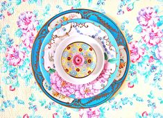 lula aldunate radiates mandalas with ornate ceramic plates new york city based artist and designer lula aldunate has photographed a hand-crafted a series, comprised of vibrantly colored and intricately pattered mandalas. the spiritual spirals are a ritua Art Vintage, Vintage Designs, Composition, Motifs Textiles, Beautiful Flower Arrangements, Expo, Color Of Life, Ceramic Plates, Mandala Art