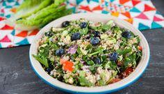 Cos Cuddled Quinoa Blueberry Salad | Good Chef Bad Chef