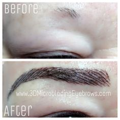 3D Microblading Eyebrows technique for the perfect eyebrows. Before and after photos.