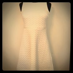 LOFT dress. LOFT dress 99% polyester. 1% spandex. Machine wash. Color: cream. Approximately 31 inches. LOFT Dresses