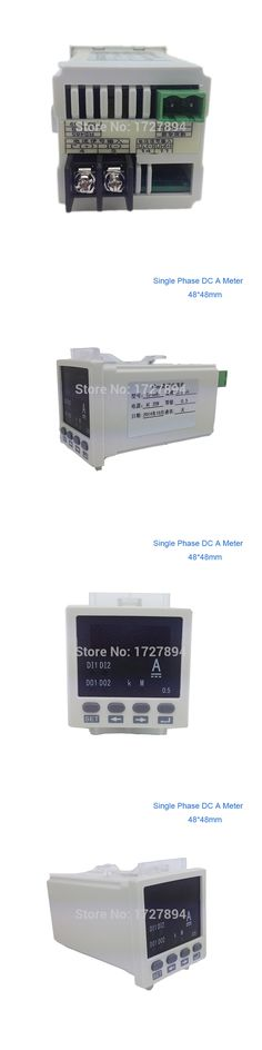 Free shipping ! Panel mounted 48*48mm  Small Single Phase DC AMP Meter,Digital DC ampere meter, LED display Mini current meters