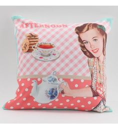 FABRIC CUSHION IN RED COLOR 'VINTAGE-AFTERNOON' W_FILLING 40X40Χ3 (100% SYNTH_SUEDE)