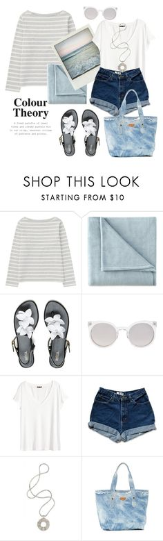 """""""Seaside"""" by gul07 ❤ liked on Polyvore featuring Uniqlo, JCPenney Home, Polaroid, Melissa, Kosha, H&M and Aimee Kestenberg"""