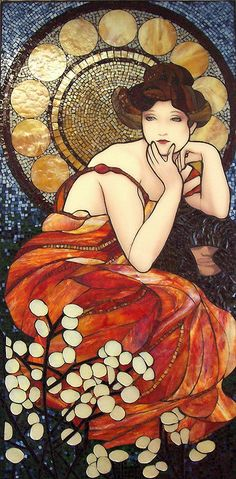 Mucha's Lady #4 - By Emerald Dragon - Kathleen