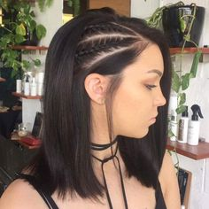 Cool Side Braids: (regular or corn rows) keep the other side straight or curly.