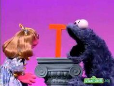 Sesame Street Letter T Cookie Monster