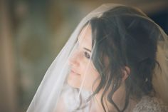 Bride in a beautiful veil on her wedding day Cassie Leedham Photography