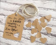 Rustic Wedding Tag - handwritten message one side and decorated on other?