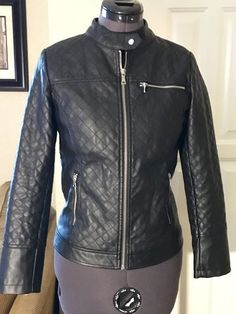 CoffeeHouse Kids Black Leather Quilted Jacket-Youth XL #CoffeeHouse