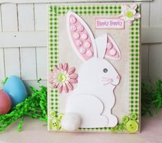 Handmade Easter Cards on Modern Magazin Diy Easter Cards, Easter Crafts, Diy Cards, Holiday Crafts, Easter Ideas, Spring Crafts, Diy Ostern, Easter Bunny Decorations, Easter Decor