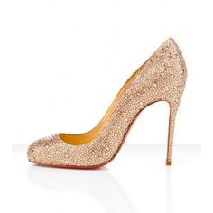 Christian Louboutin All Sparkle Round Toe Red Sole Pump
