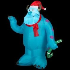 airblown inflatable disney sulley at the home depot on sale for 20 bucks mike too find this pin and more on christmas inflatable yard decorations - Disney Christmas Blow Up Yard Decorations