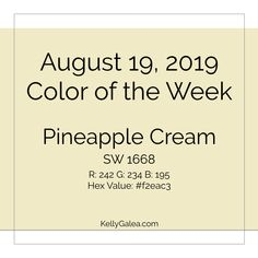 Your Color of the Week and forecast for the week of August 19, 2019. Powerful possibilities and the art of allowing lead to an uptick in your personal power.