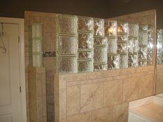 Bathroom Designs Using Glass Blocks wonderful bathroom view with blue acrylic glass block shower wall