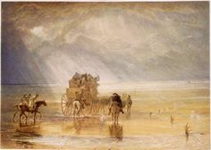 William Turner - Lancaster Sands - Watercolour - Birmingham Museums & Art Gallery