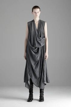 Very dramatic... What I love is the drama, the grey, the drape and the shape. *