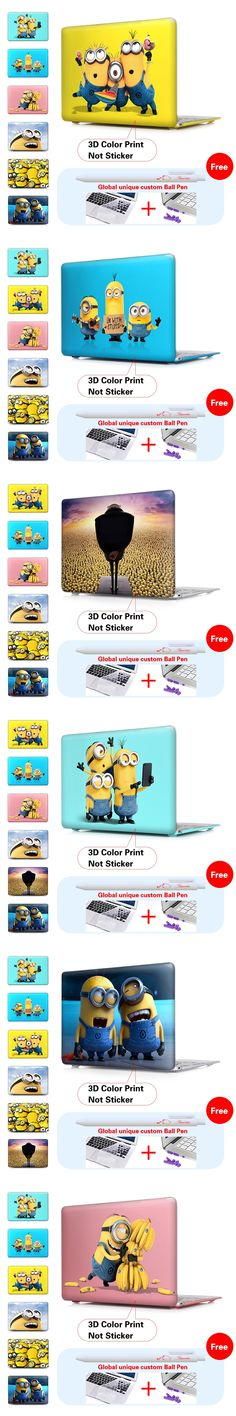 Minion Despicable Me 2 Matte Laptop Case For Macbook Air 13 Case Air 11 Pro 13 15 Retina For Mac book Air 13 Case Keyboard Cover