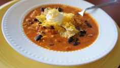 365 Days of Slow Cooking: Recipe for Slow Cooker Cream Cheese Chicken Enchilada Soup