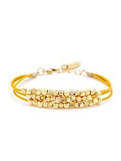 Ettika Jewelry Triple Strand Nugget Bracelet