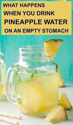 What Happens If You Drink Pineapple Water On An Empty Stomach More from my site Detox Water Recipes to Lose Weight Detox Kur, Detox Juice Cleanse, Detox Drinks, Detox Juices, Diet Detox, Detox Foods, Detox Lunch, Health Cleanse, Body Cleanse