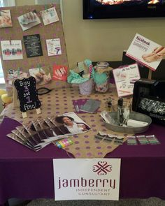 In home Jamberry party display.