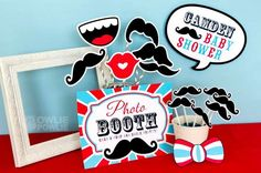Little Man Mustache Baby Shower via Kara's Party Ideas   Kara'sPartyIdeas.com #Mustache #1stBirthday #PartyIdeas #Supplies (24)