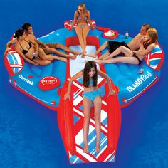 Overton's : Overtons Island Club Lounge - Watersports > Lake & Pool Leisure > Party Island Floats : Lake Toys, Lake Rafts, Water Toys, Floating Decks, Rafts