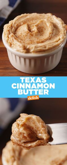 Cinnamon Butter Texas Roadhouse​ fans, here's exactly how to make that crazy-addictive Cinnamon Butter.Texas Roadhouse​ fans, here's exactly how to make that crazy-addictive Cinnamon Butter. Flavored Butter, Homemade Butter, Butter Recipe, Whipped Butter, Butter Icing, Salsa Dulce, Good Food, Yummy Food, Sauces