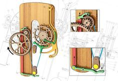 Wooden Clocks: Remontoire for Woodenclocks