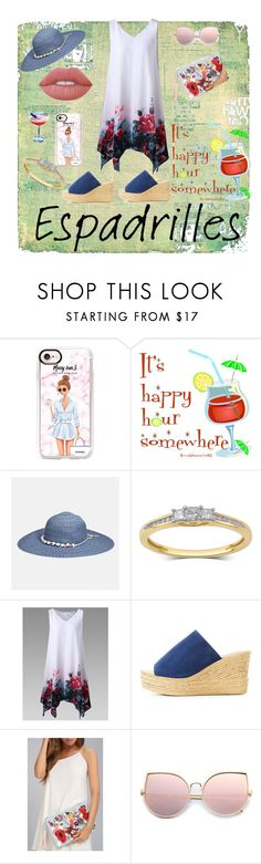 """""""An Espadrilles Kind of Day"""" by bluehatter ❤ liked on Polyvore featuring Casetify, Avenue, Bamboo, LULUS, Lime Crime and espadrilles"""
