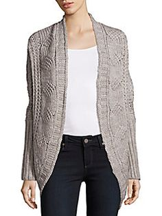 Saks Fifth Avenue - Cable Knit Open Front Cardigan