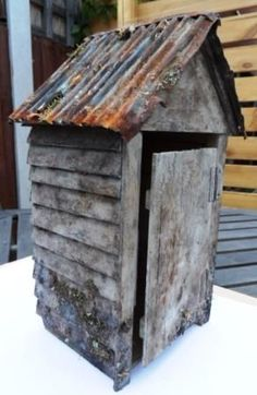 Dolls Houses & Miniatures - The Outdoor Toilet