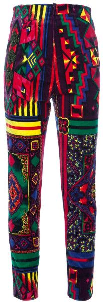 Gianni Versace Vintage Printed Trouser in Multicolor   The House of Beccaria~