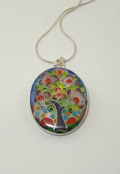 Hey, I found this really awesome Etsy listing at https://www.etsy.com/listing/265649870/silver-cloisonne-enamel-necklace-jewelry