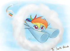 Commission Dash through the clouds by HowXu on DeviantArt