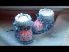 "Пинеточки ""Сказочные"". - YouTube Knit Baby Dress, Crochet Baby Sandals, Crochet Baby Shoes, Crochet Baby Booties, Knitted Baby, Crochet Dolls, Knit Crochet, Crochet Hats, Baby Knitting Patterns"