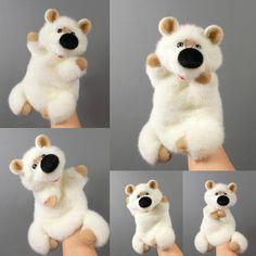 White Bear hand puppet for children. Bibabo. Puppet glove.