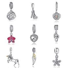 Hot Sale Genuine 100% 925 Sterling Silver Pendant Charm Beads Fit Original Pandora Bracelet Necklace Authentic Jewelry MUM Gift