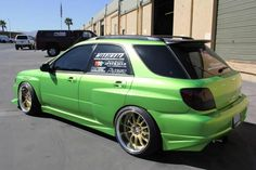 Team Hybrid - Green Subaru WRX Wagon