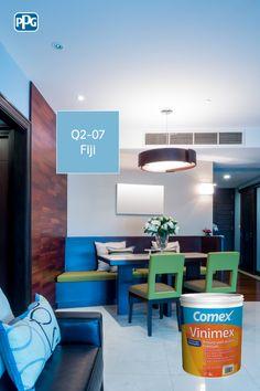 Por su alto rendimiento y durabilidad, Vinimex es la pintura perfecta para habitaciones donde existe una constante circulación de personas. #ProductosComex #Habitaciones #Colores #Ideas #Decor #Quality