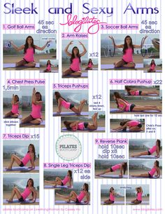 Pilates boot camp- Arm exercises Probably the best arm exercises i've ever seen!! LOVE the tricep pushup!!!