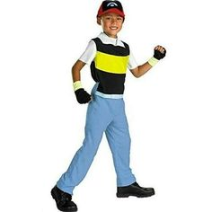 jumpsuit with blue pants and striped tophat with licensed pokemon costumesku