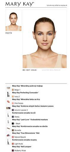 Vyskúšala som ZDARMA svoju premenu v Mary Kay® Virtuálnom líčení. Vyskúšajte aj vy tú svoju a zdieľajte ju s priateľmi!