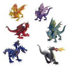 Your little fantasy enthusiast will love bringing these exciting dragon figurines by Animal Planet to life right in your living room for hours of make-believe fun. Each one features a different pose and vivid colors to make play time all the more magical. <br><br>The Animal Planet 6 Pack Collectible Dragons features:<br><ul><li>Includes 6 articulated dragon figurines</li><br><li>Bright and lively colors</li><br><li>Pl...