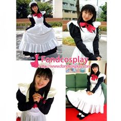 Sissy Maid Cotton Lockable Dress Uniform Cosplay Costume Tailor-Made[G1251]