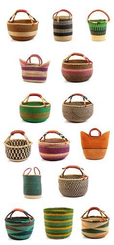 love the idea of using small Ghana Bolga Baskets for flower girls.