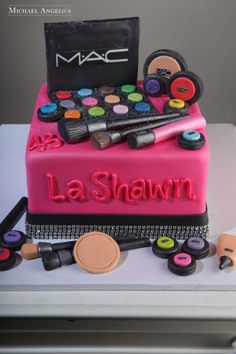 make-up birthday cake by Michael Angelo's