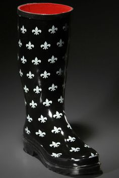 Emily Rain Boot In Fleur-De-Lys